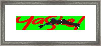 Yasiel Framed Print by Ron Regalado