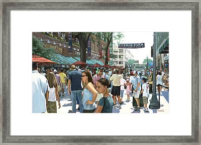 Yawkey Way Framed Print by Linda Tenukas