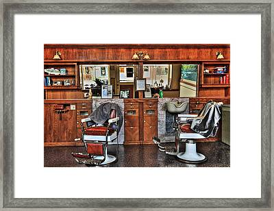 Ye Old Barber Shop Framed Print by James Eddy
