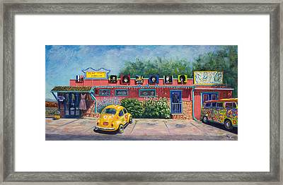 Ye Ole Hippie Emporium Framed Print by Patty Kay Hall