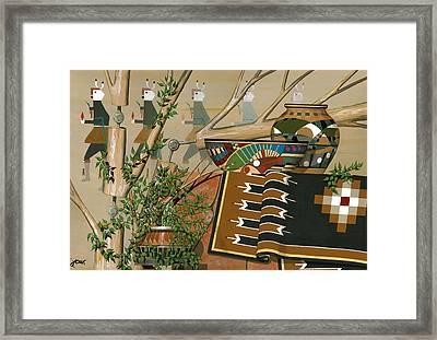 Yei-be-chai Framed Print by John Wyckoff