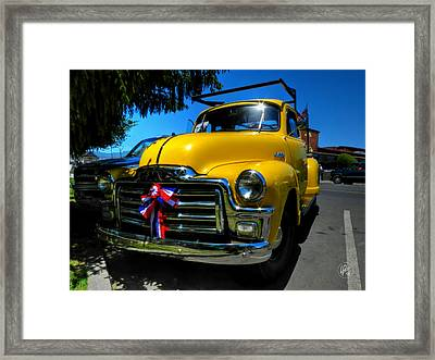 Yellow '54 Gmc Pickup Framed Print by Lance Vaughn