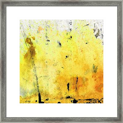 Yellow Abstract Art - Lemon Haze - By Sharon Cummings Framed Print by Sharon Cummings