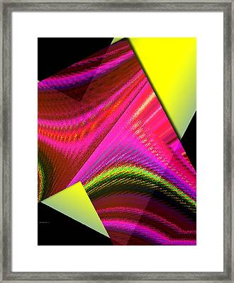 Yellow And Pink Designs Framed Print by Mario Perez