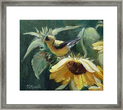 Yellow Bird - Hooded Oriole Framed Print by Viktoria K Majestic