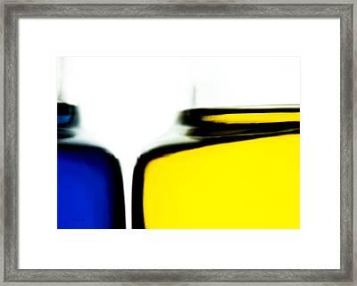 Yellow Blue Framed Print by Bob Orsillo