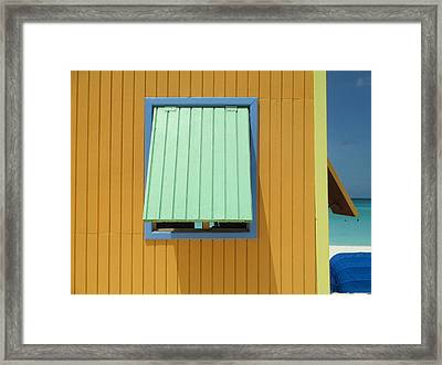 Yellow Cabin Framed Print by Randall Weidner
