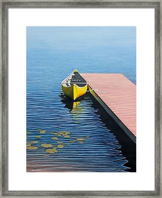 Yellow Canoe Framed Print by Kenneth M  Kirsch