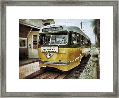 Yellow Car - Los Angeles Framed Print by Glenn McCarthy Art and Photography