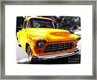 Yellow Chevy Framed Print by Garren Zanker