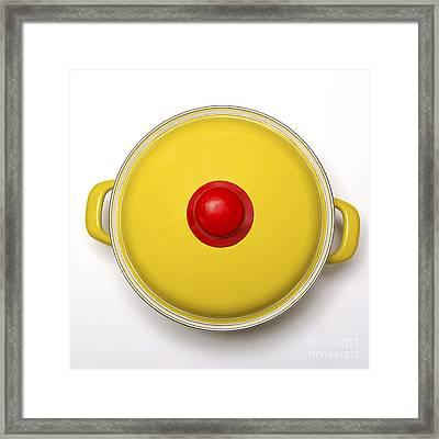 Yellow Cooking Pot Framed Print by Bernard Jaubert