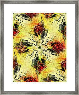 Yellow Cross Framed Print by Anastasiya Malakhova