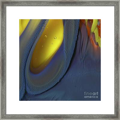Yellow Depths Framed Print by Kimberly Lyon