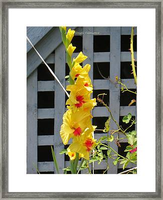 Yellow Grandeur Framed Print by Sonali Gangane