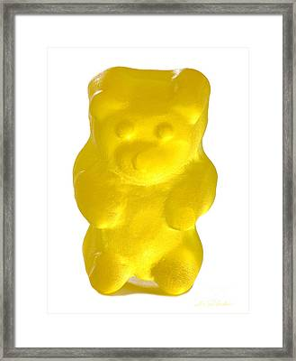 Yellow Gummy Bear Framed Print by Iris Richardson
