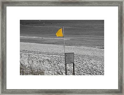 Yellow Hazard Framed Print by Susan Leggett