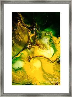 Yellow Jacket Abstract Art Framed Print by Serg Wiaderny