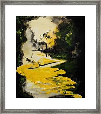 Yellow Jackets Framed Print by Rachel Brisbois