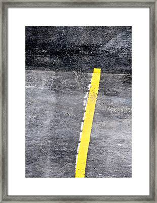 Yellow Line Framed Print by John Illingworth