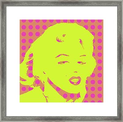 Yellow Marilyn Framed Print by Cindy Edwards
