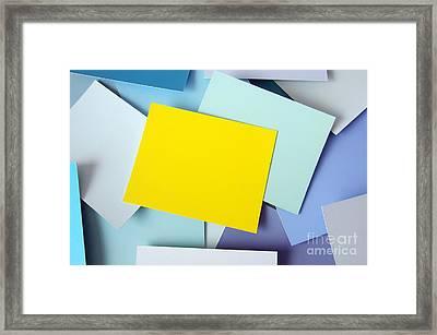Yellow Memo Framed Print by Carlos Caetano