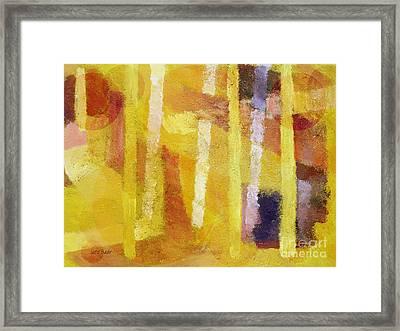 Yellow Mood Framed Print by Lutz Baar