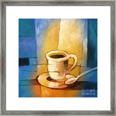 Yellow Morning Cup Framed Print by Lutz Baar