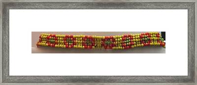 Yellow Orange Red And Green Bracelet Framed Print by Kimberly Johnson