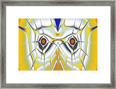 Yellow Owl Framed Print by Anastasiya Malakhova