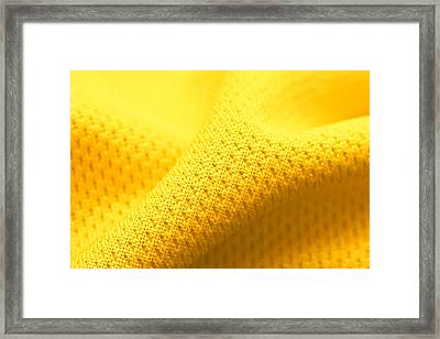 Yellow Polyester Framed Print by Tom Gowanlock