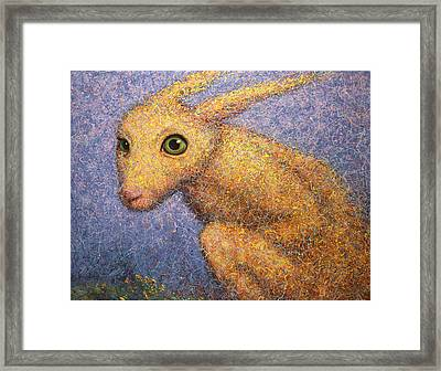 Yellow Rabbit Framed Print by James W Johnson