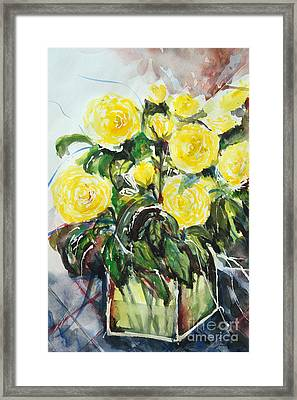 Yellow Roses- Painting Framed Print by Ismeta Gruenwald