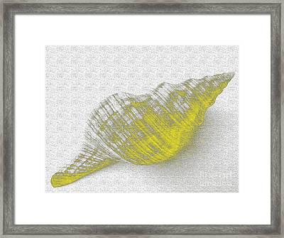 Yellow Seashell Framed Print by Carol Lynch