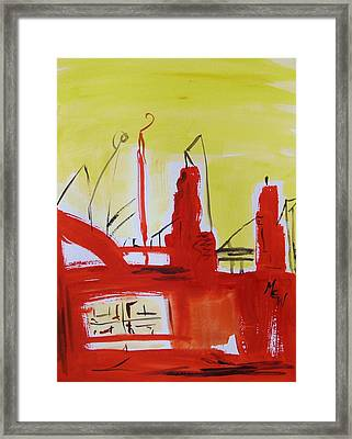 Yellow Sky Industry Framed Print by Mary Carol Williams