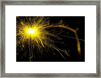 Yellow Sparkle Framed Print by Samuel Whitton