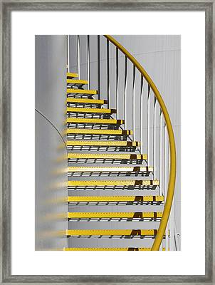 Yellow Steps 3 Framed Print by Robert Woodward