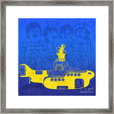 Yellow Submarine Framed Print by Andee Design