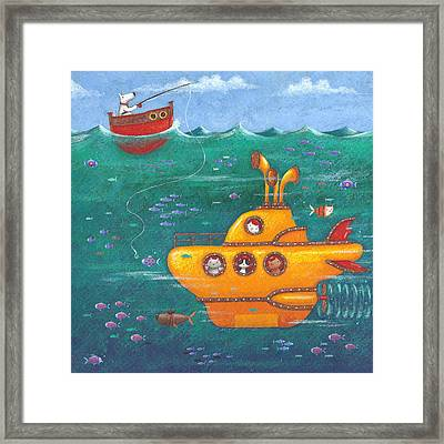 Yellow Submarine Framed Print by Peter Adderley