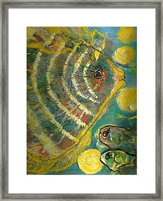 Yellow Submarines  Framed Print by Anne-Elizabeth Whiteway