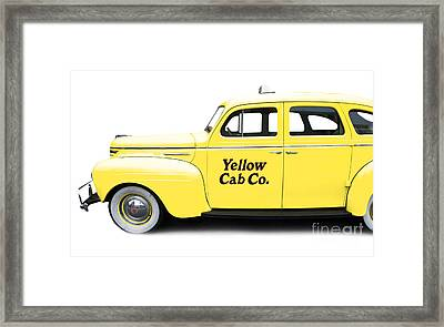 Yellow Taxi Cab Framed Print by Edward Fielding