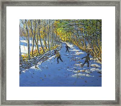 Yellow Trees  Allestree Park Framed Print by Andrew Macara
