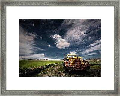 Yellow Truck Framed Print by ?orsteinn H. Ingibergsson
