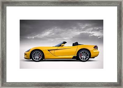 Yellow Viper Roadster Framed Print by Douglas Pittman