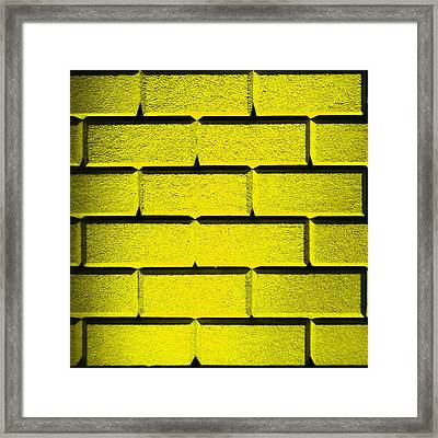 Yellow Wall Framed Print by Semmick Photo