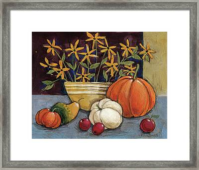 Yellow Ware Framed Print by Anne Tavoletti