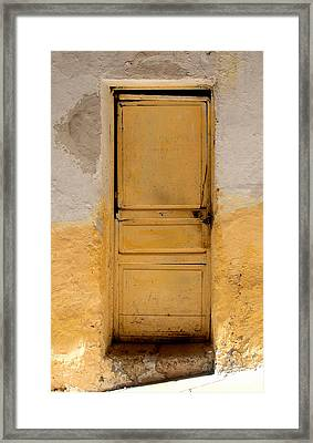 Yellow Wood Framed Print by Roberto Alamino