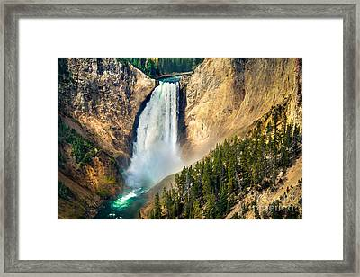 Yellowstone Lower Waterfalls Framed Print by Robert Bales