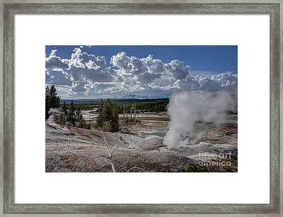 Framed Print featuring the photograph Yellowstone's Norris Geyser Basin by Bill Gabbert