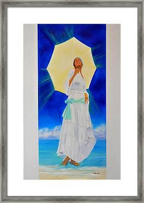 Yemaya II Framed Print by KCatia Creole Art