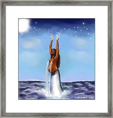 Yemaya -mother Of All Framed Print by Carmen Cordova